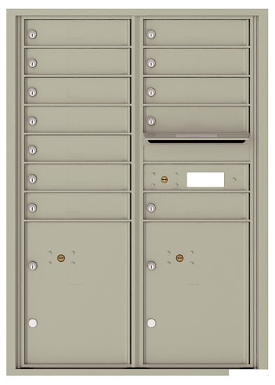 4C12D-12 Front Loading Commercial 4C Mailboxes – 12 Tenant Doors 2 Parcel Lockers