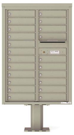 4C12D22-P Commercial 4C Pedestal Mailboxes