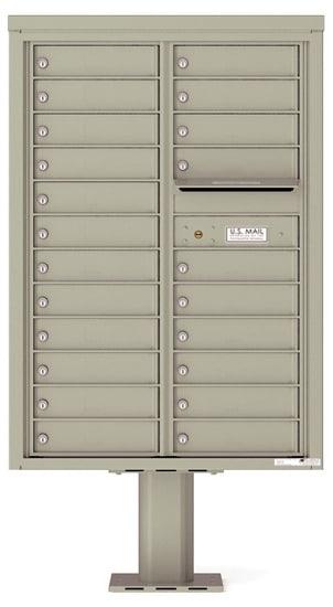 4C12D-22-P Commercial 4C Pedestal Mailboxes – 22 Tenant Doors