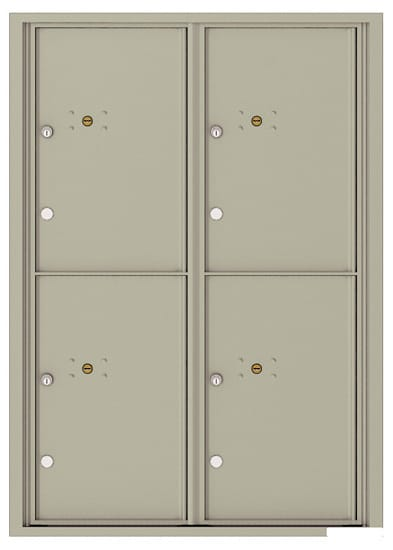 4C12D-4P Front Loading Commercial Surface Mount 4C Parcel Lockers – 4 Parcel Lockers