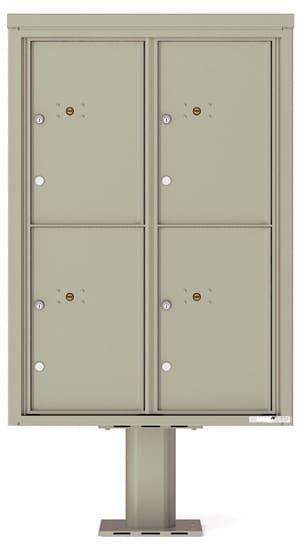 Commercial 4C Pedestal Mailboxes – 4C12D-4P-P Parcel Lockers – 4 Parcel Lockers