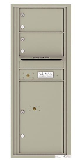 4C12S-02 Front Loading Private Use Commercial 4C Mailboxes – 2 Tenant Doors 1 Parcel Locker
