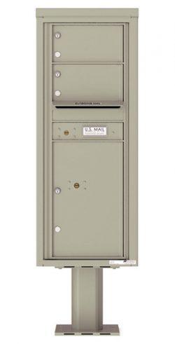 4C12S02-P Commercial 4C Pedestal Mailboxes