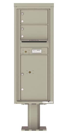 4C12S-02-P Commercial 4C Pedestal Mailboxes – 2 Tenant Doors 1 Parcel Locker