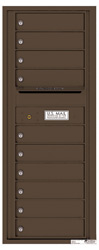 Florence 4C Mailboxes 4C12S-10 Antique Bronze