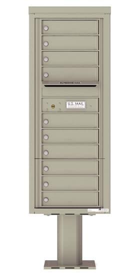 4C12S-10-P Commercial 4C Pedestal Mailboxes – 10 Tenant Doors