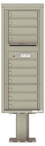 Florence 4C Pedestal 4C12S-10-P Postal Grey