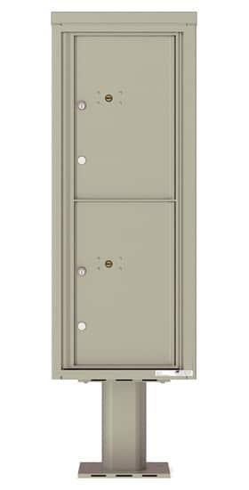 Commercial 4C Pedestal Mailboxes – 4C12S-2P-P Parcel Lockers – 2 Parcel Lockers
