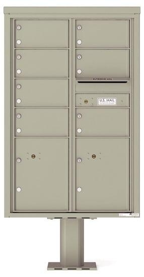 4C13D-07-P Commercial 4C Pedestal Mailboxes – 7 Tenant Doors 2 Parcel Lockers