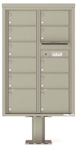 4C13D11-P Commercial 4C Pedestal Mailboxes