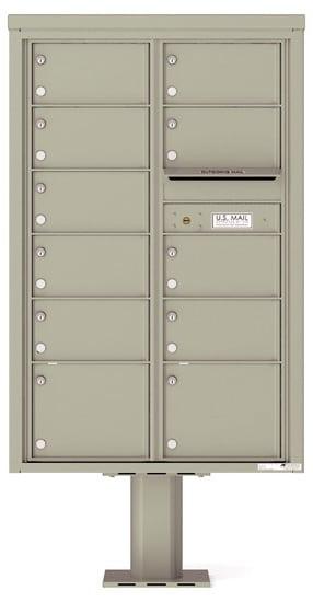 4C13D-11-P Commercial 4C Pedestal Mailboxes – 11 Tenant Doors