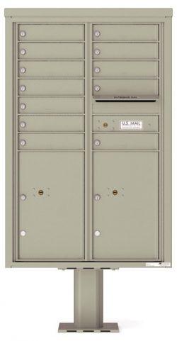 4C13D12-P Commercial 4C Pedestal Mailboxes