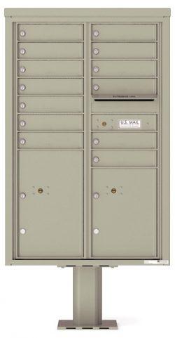 4C13D13-P Commercial 4C Pedestal Mailboxes