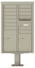 Florence 4C Pedestal 4C13D-13-P Postal Grey
