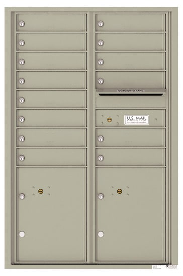 4C13D-14 Front Loading Private Use Commercial 4C Mailboxes – 14 Tenant Doors 2 Parcel Lockers