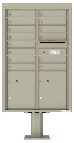 4C13D14-P Commercial 4C Pedestal Mailboxes