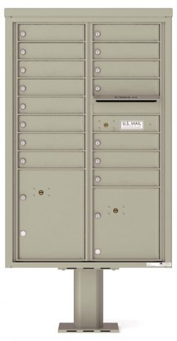 4C13D15-P Commercial 4C Pedestal Mailboxes