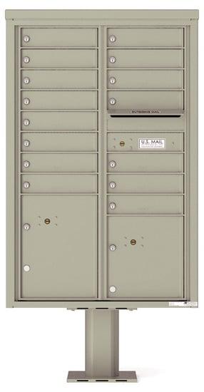 4C13D-15-P Commercial 4C Pedestal Mailboxes – 15 Tenant Doors 2 Parcel Lockers Product Image
