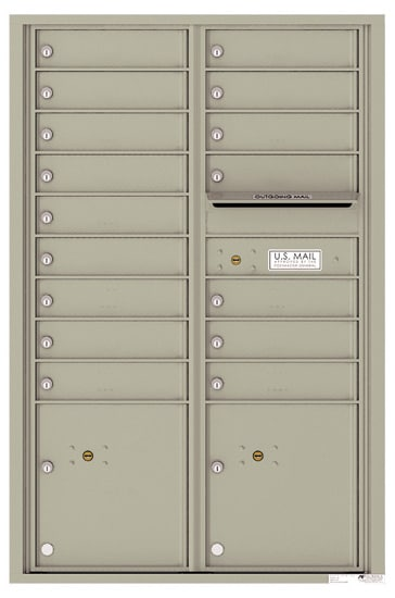 4C13D16 4C Horizontal Commercial Mailboxes