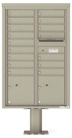 4C13D16-P Commercial 4C Pedestal Mailboxes