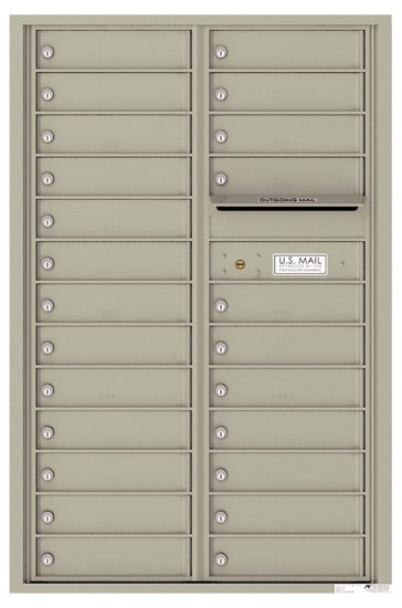 4C13D-24 Front Loading Commercial Surface Mount 4C Mailboxes – 24 Tenant Doors