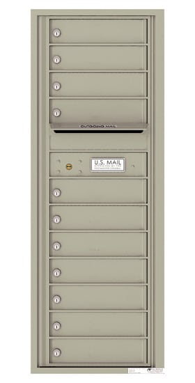 4C13S-11 Front Loading Private Use Commercial 4C Mailboxes – 11 Tenant Doors