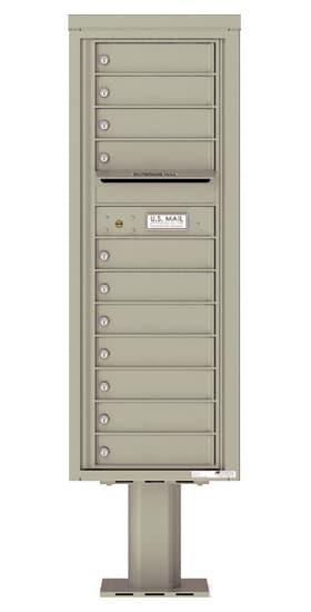 4C13S-11-P Commercial 4C Pedestal Mailboxes – 11 Tenant Doors Product Image