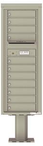 Florence 4C Pedestal 4C13S-11-P Postal Grey