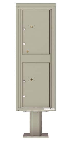 Commercial 4C Pedestal Mailboxes – 4C13S-2P-P Parcel Lockers – 2 Parcel Lockers