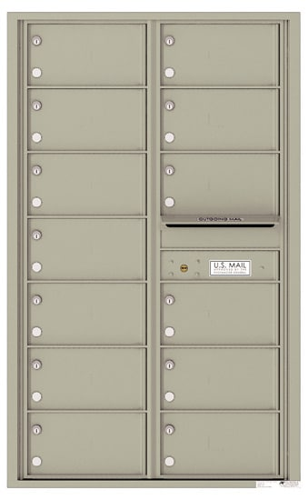 4C14D-13 Front Loading Private Use Commercial 4C Mailboxes – 13 Tenant Doors