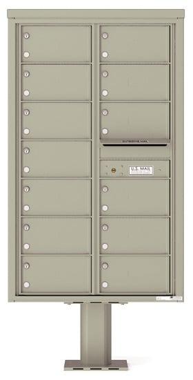 4C14D-13-P Commercial 4C Pedestal Mailboxes – 13 Tenant Doors Product Image
