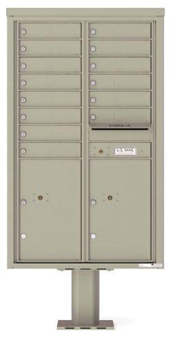 4C14D14-P Commercial 4C Pedestal Mailboxes