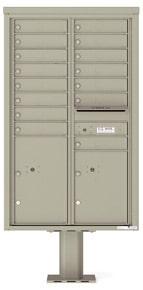 Florence 4C Pedestal 4C14D-15-P Postal Grey