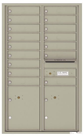 4C14D16 4C Horizontal Commercial Mailboxes