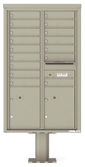 4C14D16-P Commercial 4C Pedestal Mailboxes