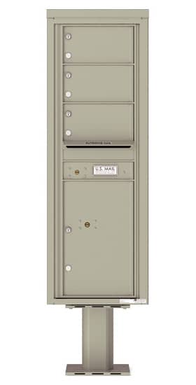 4C14S-03-P Commercial 4C Pedestal Mailboxes – 3 Tenant Doors 1 Parcel Locker