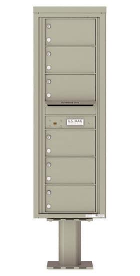 4C14S-06-P Commercial 4C Pedestal Mailboxes – 6 Tenant Doors Product Image