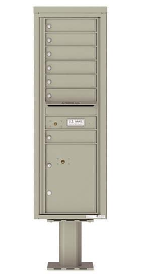 4C14S-07-P Commercial 4C Pedestal Mailboxes – 7 Tenant Doors 1 Parcel Locker