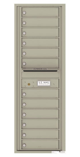 4C14S-12 Front Loading Private Use Commercial 4C Mailboxes – 12 Tenant Doors