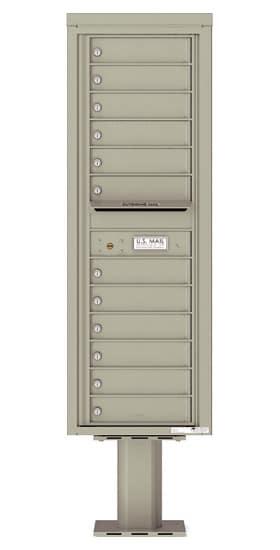 4C14S-12-P Commercial 4C Pedestal Mailboxes – 12 Tenant Doors