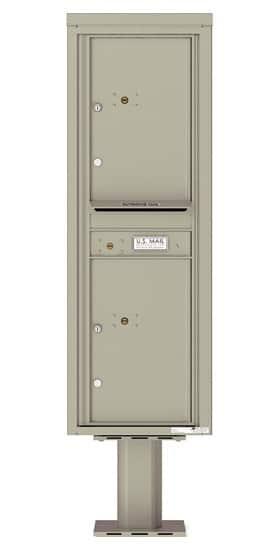 Commercial 4C Pedestal Mailboxes – 4C14S-2P-P Parcel Lockers – 2 Parcel Lockers