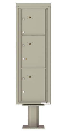Commercial 4C Pedestal Mailboxes – 4C14S-3P-P Parcel Lockers – 3 Parcel Lockers
