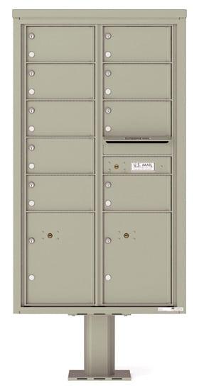 4C15D09-P Commercial 4C Pedestal Mailboxes