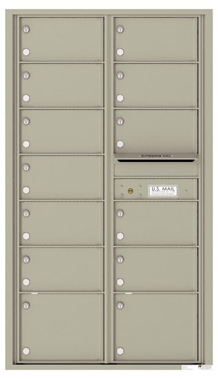 4C15D-13 Front Loading Private Distribution Commercial 4C Mailboxes – 13 Tenant Doors