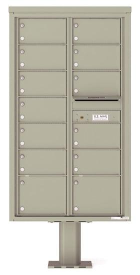 4C15D13-P Commercial 4C Pedestal Mailboxes