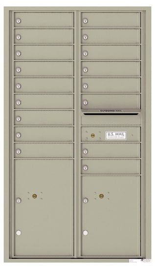 4C15D-17 Front Loading Private Use Commercial 4C Mailboxes – 17 Tenant Doors 2 Parcel Lockers
