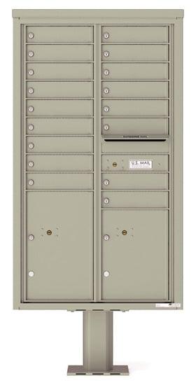 4C15D-17-P Commercial 4C Pedestal Mailboxes – 17 Tenant Doors 2 Parcel Lockers Product Image