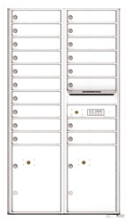 Florence 4C Mailboxes 4C15D-18 White
