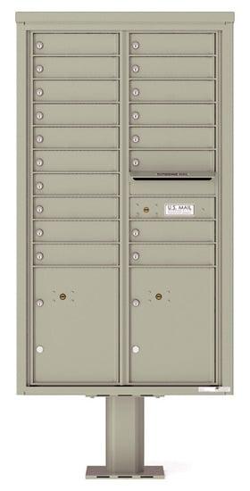 4C15D18-P Commercial 4C Pedestal Mailboxes