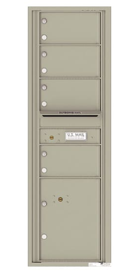 4C15S-04 Front Loading Commercial Surface Mount 4C Mailboxes – 4 Tenant Doors 1 Parcel Locker